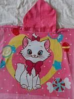 Полотенце-пончо с капюшоном Кошка Мари