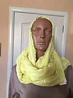 Женский шарф-снуд летний лимонный  C&A