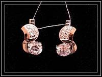 Сережки серебряные модель 034