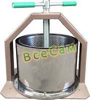 Пресс винтовой для сока яблок, винограда, овощей 15 литров «ЛАН»