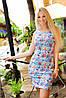 Платье №2122.2(А) (синий +мелкие цветы) ГЛ