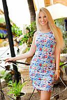 Платье №2122.2(А) (синий +мелкие цветы) ГЛ, фото 1