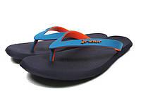 Мужские вьетнамки Rider R1. Синий с оранжевым.