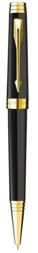 Стильная шариковая ручка PARKER Premier Black Lacquer GT BP черная с позолотой 89 732