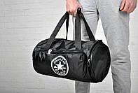 Модная сумка спортивная черная плащевка Converse Конверс