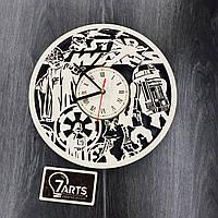 Часы настенные большие из березы «Планета Звездных Войн»