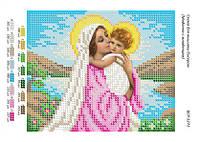 """Схема для вишивки бісером ікони """"Мадонна з Немовлям"""""""