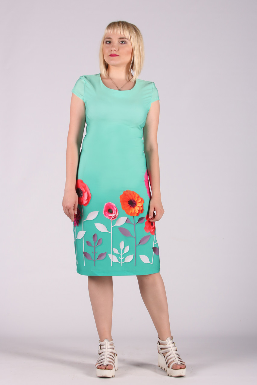 Selta платье женское маки модель 477 полубатал 50 размер