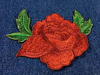 Нашивка Роза вышитая