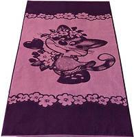 Полотенце  махровое банное для детей 70*140 Кошечка