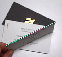 Визитки. Изготовление визитных карточек. с кашировкой
