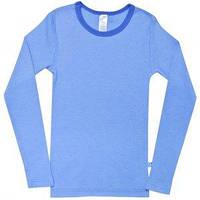Утепленная футболка c длинным рукавом (синяя), Smil, размеры 98, 110