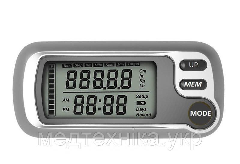 Профессинальный 3D шагомер PDM143 (USA) 7 дней памяти.
