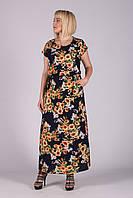 Платье Selta модель 473 полубатал 50-56  женское подсолнухи маленькие, фото 1
