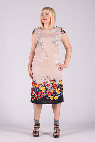Selta платье женское модель 453 полубатал 50-56  органза, фото 2