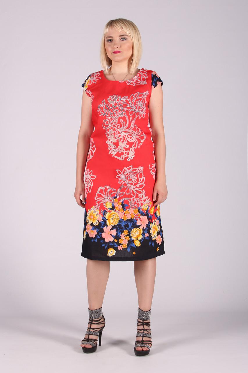 Selta платье женское модель 453 полубатал 50-56  органза