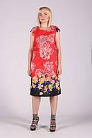 Selta платье женское модель 453 полубатал 50-56  органза, фото 1
