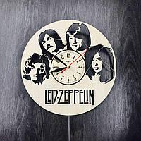 Арт-часы настенные деревянные круглые «Led Zeppelin», фото 1