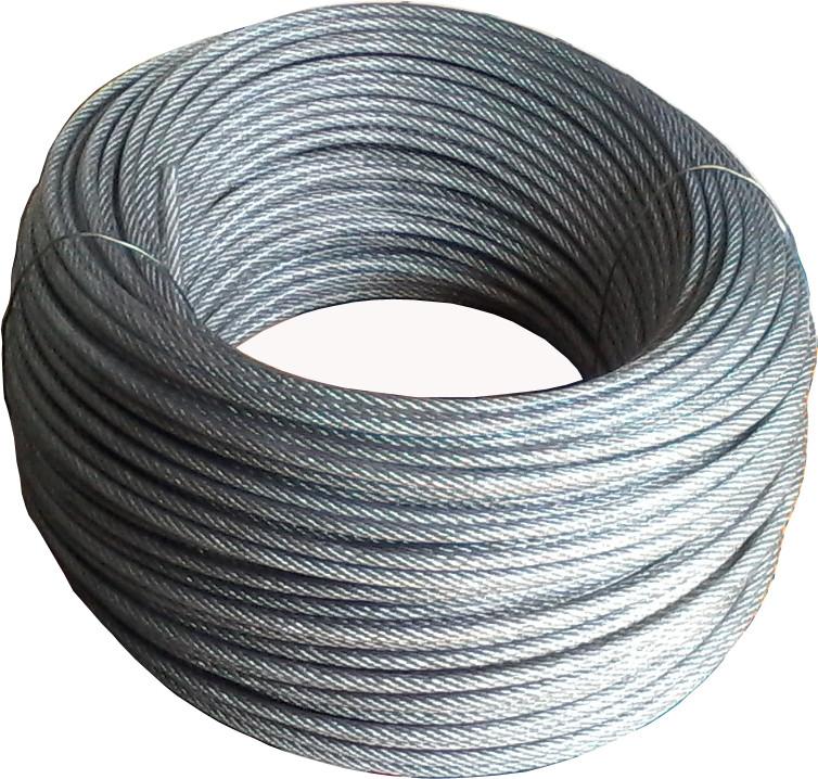 Трос стальной 3 мм в оболочке ПВХ