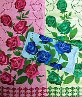 Кухонное махровое жаккардовое полотенце Букет Роз