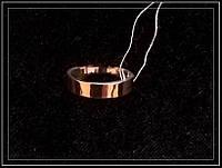 Обручальное серебряное кольцо с золотыми пластинами 010