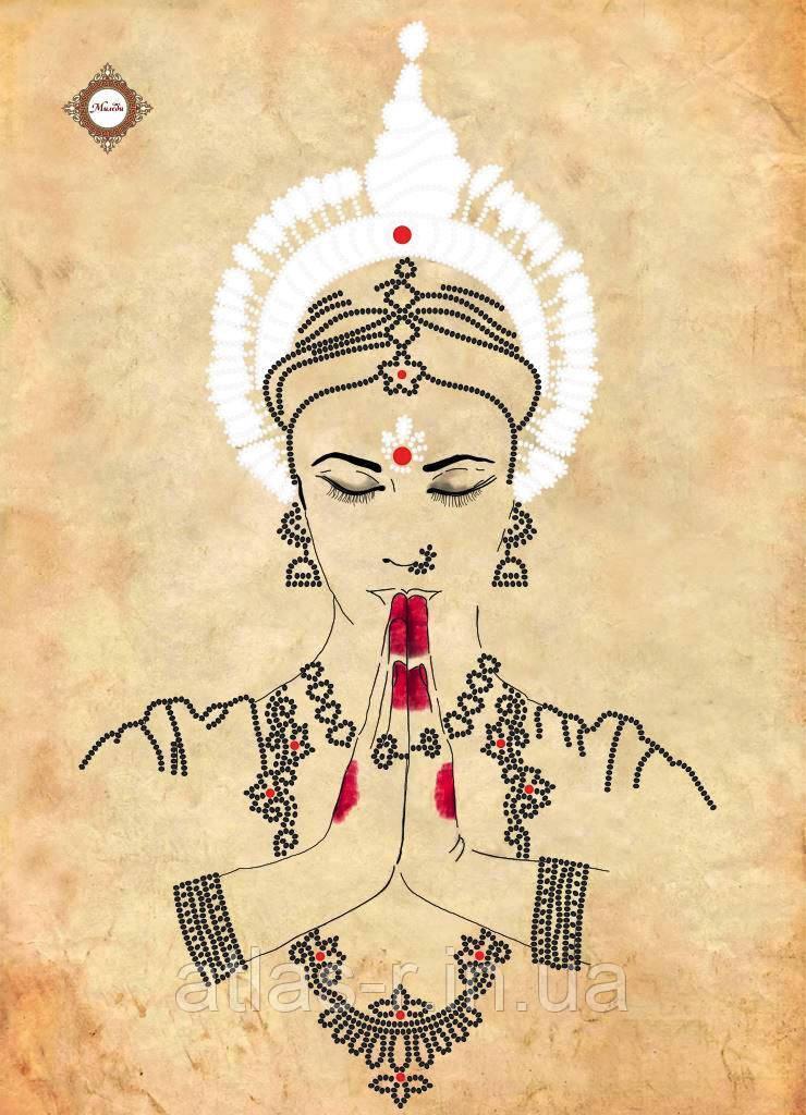 """Схема для вышивания бисером """"Namaste"""""""