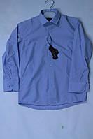 Рубашка голубая для мальчиков 5-16 лет