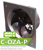 Вентилятор канальный осевой C-OZA-P. Монтаж пластиной к стене