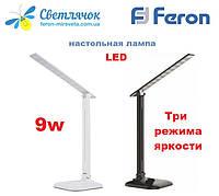 Настольный светодиодный светильник Feron DE1725 9W