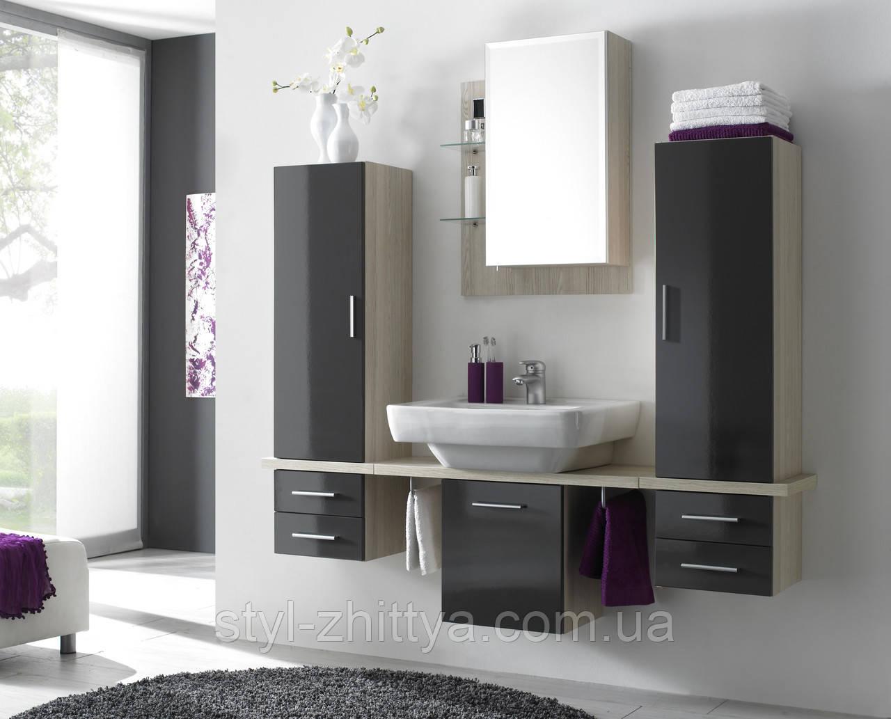 Набір для ванної кімнати глянцевий КАРІНА , два кольори