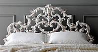 Кровать двуспальная ALUR II - резная из массива дерева