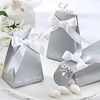 Бонбоньерки для гостей на свадьбе серебристого цвета