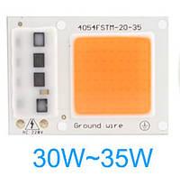 Светодиод 30W Smart IC для растений фито спектр гидропоника
