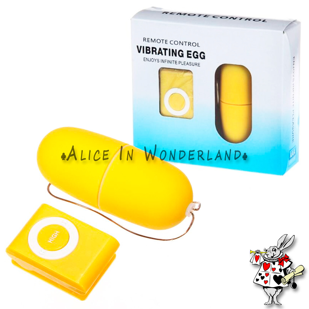 Беспроводное виброяйцо 20 режимов вибрации в коробке желтого цвета