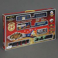 Железная дорога 2406 (24) р/у, свет, музыка, дым, 24 детали, на батарейке, в коробке