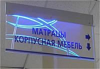 Изготовление акрилайтов, лайтбоксов, фремлайтов, клик систем вывесок Киев