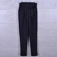 """Брюки-лосины школьные """"Бантик"""" для девочек. 116-140 см .Черные. Школьная форма оптом"""