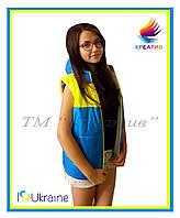 Жовто-блакитні жилети з Вашим лого (від 50 шт)