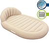 BestWay Велюр кровать 67397 бежевая круглая 215-152-60см