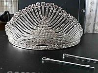 Высокая восточная корона в стразах циркония 182