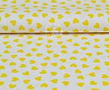Ткань с желтыми мини сердечками на белом фоне (№ 834), фото 5