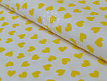 Ткань с желтыми мини сердечками на белом фоне (№ 834), фото 7