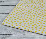 Ткань с желтыми мини сердечками на белом фоне (№ 834), фото 8
