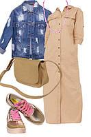 Образ с бежевым платьем 5