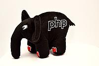 PHP слон (черный с красными ногтями)