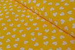 Ткань с белыми мини-сердечками на желтом фоне (№ 835), фото 3