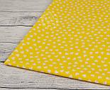 Ткань с белыми мини-сердечками на желтом фоне (№ 835), фото 4