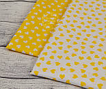Ткань с белыми мини-сердечками на желтом фоне (№ 835), фото 5