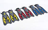 Ласты с открытой пяткой (ласты с пяточным ремнем) ZEL ZP-453: размер 38-41, 42-45