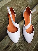 Женские летние кожаные балетки, обувь женская на низком ходу